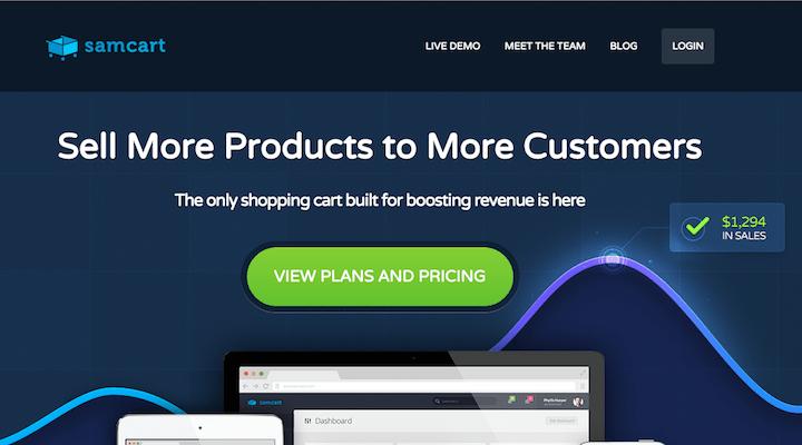 SamCart website