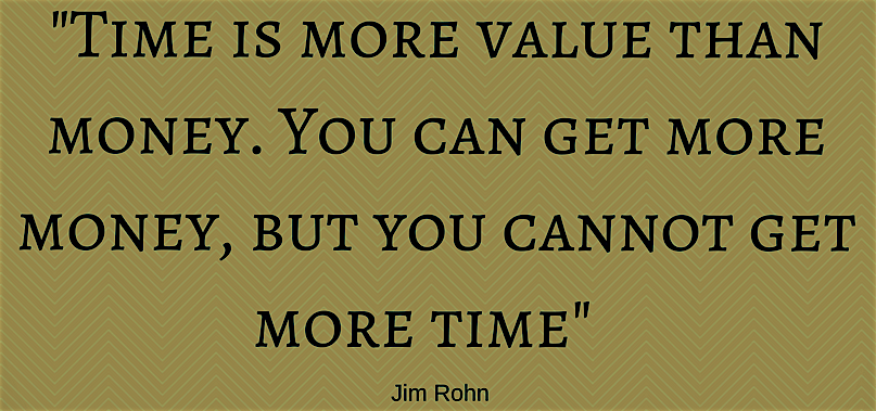 successful entrepreneurs know that time is more important than money.