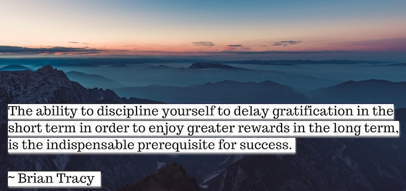 Success Habits Delay Instant Gratification